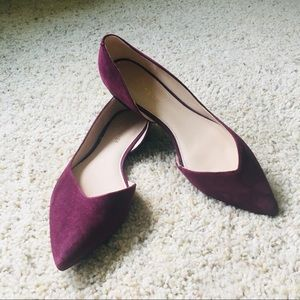 Purple suede Marc Fisher flats